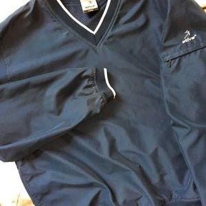 Ladies V-neck Golf windbreaker pullover